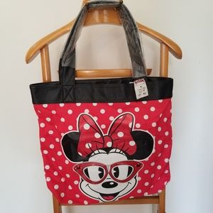LoungeFly Disney Minnie Mouse Womens Tote Bag 🆕